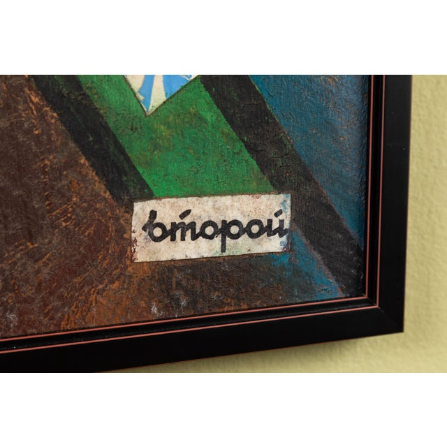 Russian Suprematist Style Gouache and Paper on Board Artwork For Sale - Image 4 of 6