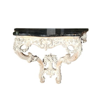 French Provencal Louis XV Style Marble Table Console