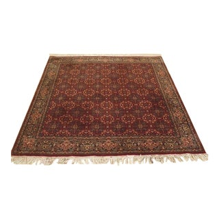 Oriental Wool Square Rug - 6′ × 6′9″ For Sale