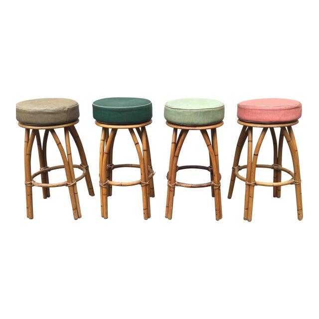 Heywood Wakefield Bamboo Barstools - Set of 4 - Image 1 of 6