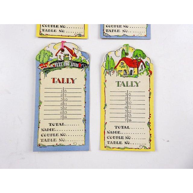 Boho Chic Die Cut Vintage 1930's Floral Cottage Bridge Tally Cards - Set of 4 For Sale - Image 3 of 5