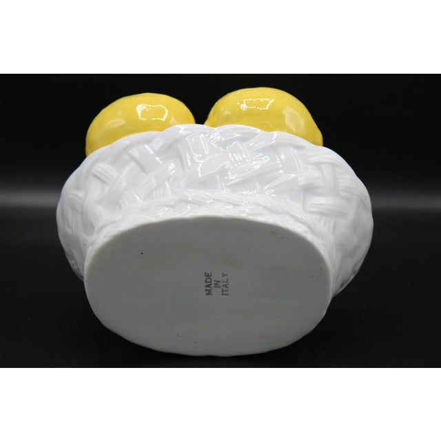 Ceramic Italian Ceramic Lemon Basket For Sale - Image 7 of 9