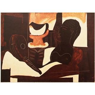 1940s Picasso, Original Period Nature Morte à La Tête Lithograph For Sale