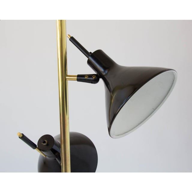 Brass Three-Shade Floor Lamp by Gerald Thurston Lightolier For Sale - Image 7 of 11