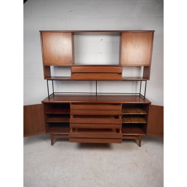Mid-Century Modern Vintage Modern Credenza With Topper by Stanley For Sale - Image 3 of 13