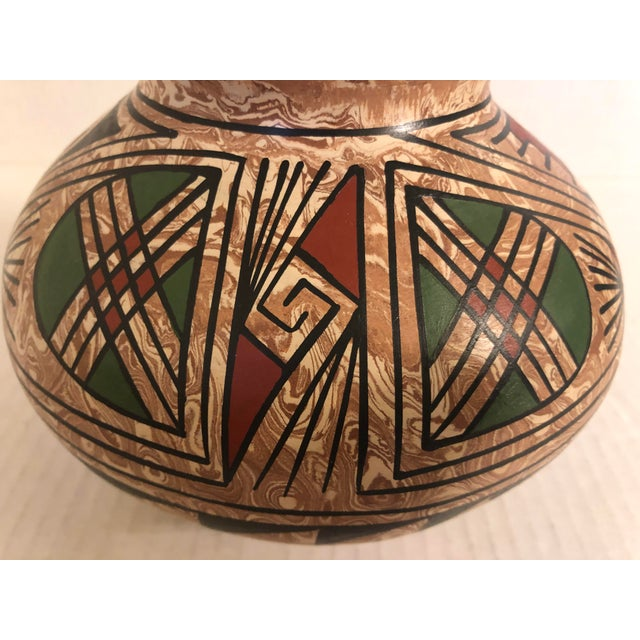 1990s 1990s Mata Ortiz Polychrome Pottery Jar For Sale - Image 5 of 9