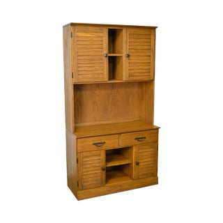 Brandt Ranch Oak Large 2 Piece Bookcase Hutch Cabinet