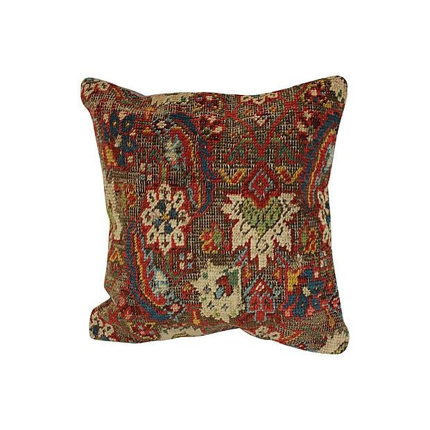 Turkish Wool Rug Fragment Pillow - Image 1 of 4