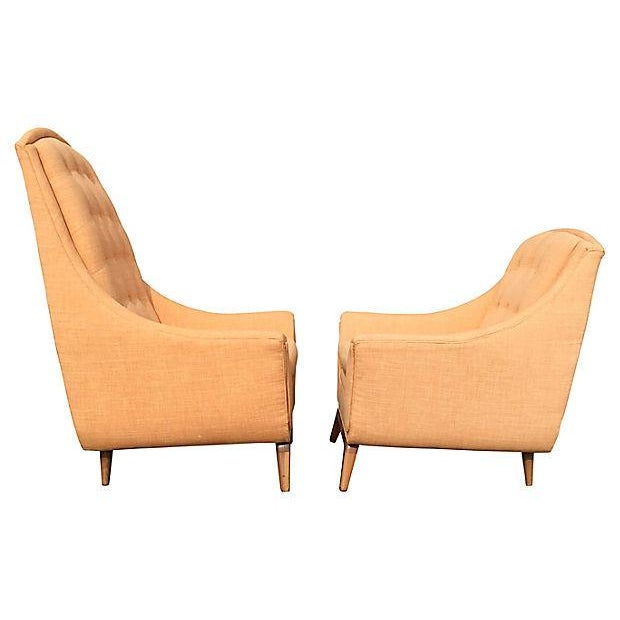 Adrian Pearsall Mid-Century Modern Adrian Pearsall His & Hers Lounge Chairs - A Pair For Sale - Image 4 of 5