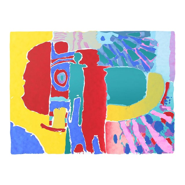 """Target Man (Red Man)"" Abstract Figures Silkscreen, C. 1975 For Sale"