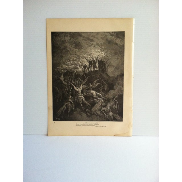 "Antique Paradise Lost Print, ""From Every Band and Squared Regiment - by Place or Choice the Worthiest"", Circa 1890 For Sale - Image 4 of 4"