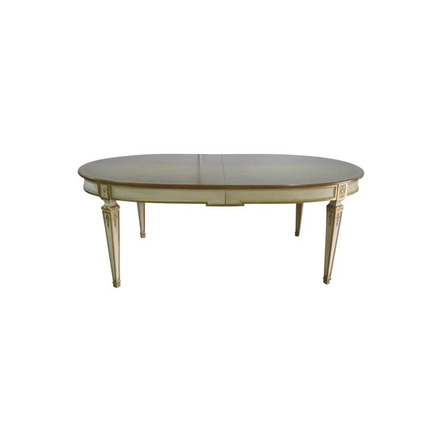20th Century Swedish Paint Decorated Dining Table For Sale