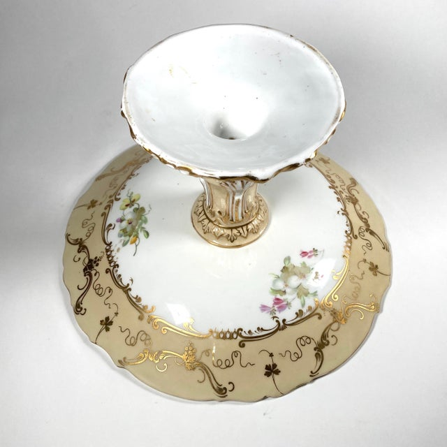 Ridgway Porcelain 19th Century English William IV Period Ridgway Porcelain Tazza For Sale - Image 4 of 5