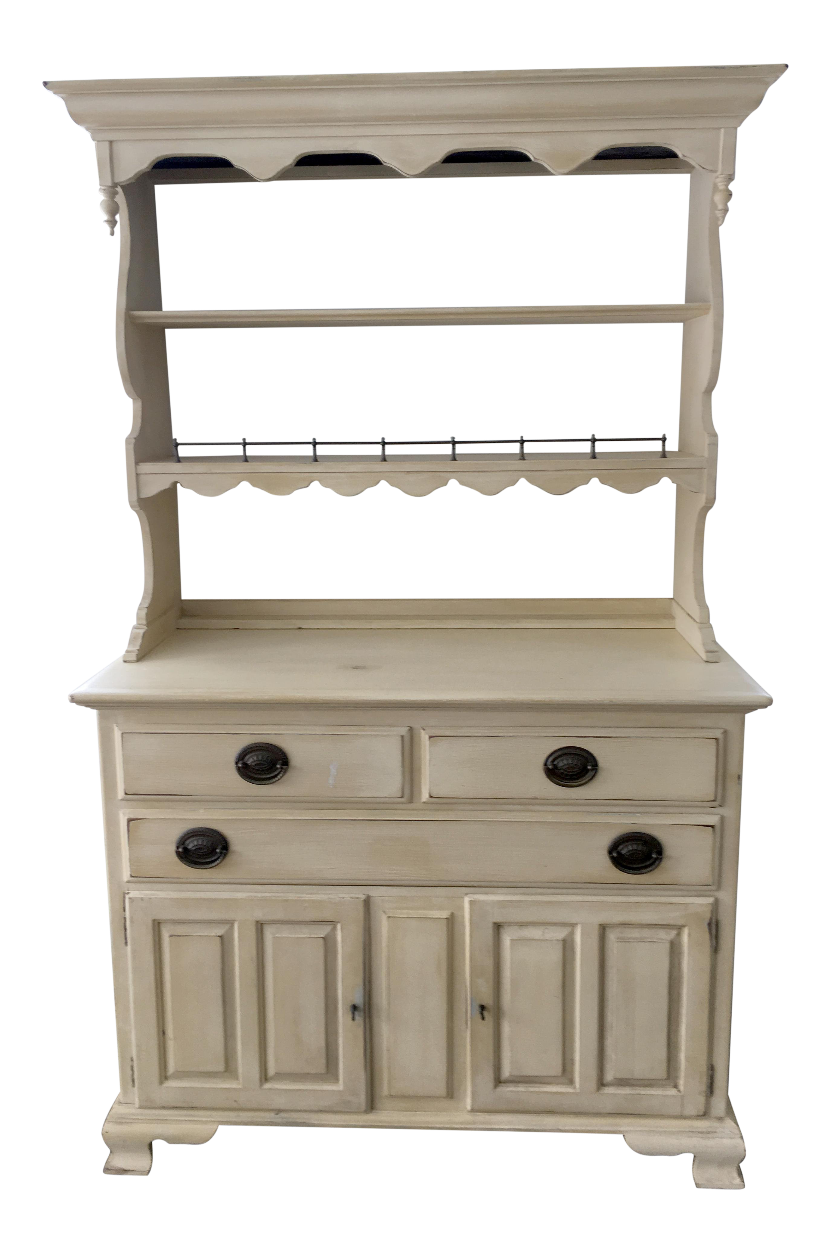 Charmant Ethan Allen Painted Yellow Hardwood Hutch