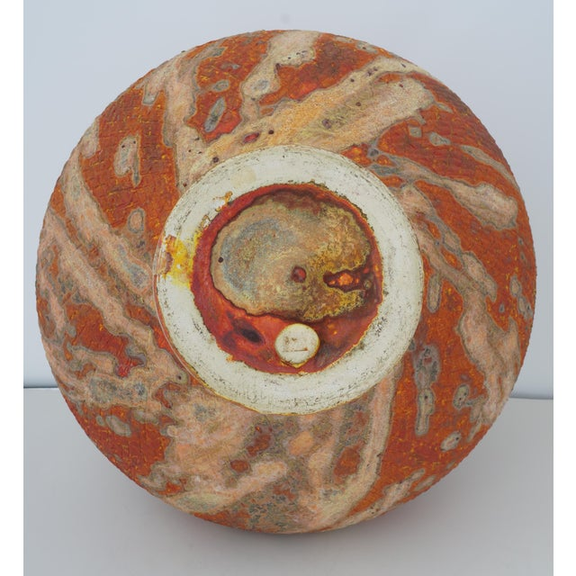 Contemporary Vintage Peter Andersson Australia Glazed Earthenware Artisan Pot or Vase With Papers For Sale - Image 3 of 11
