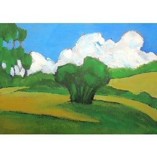Contemporary California Eucalyptus Hills Plein Air Landscape For Sale