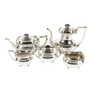 Antique Sterling Silver Tea and Coffee Service For Sale