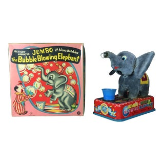 Vintage Jumbo the Bubble Blowing Elephant Toy For Sale