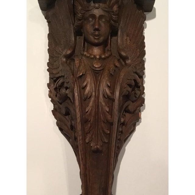 Antique Carved Wood Bracket - Image 6 of 11