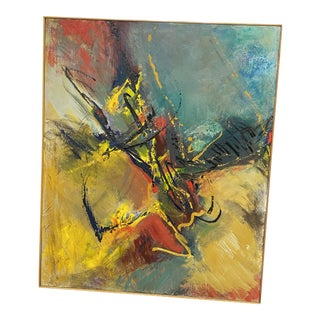 Original Abstract Expressionist Painting Signed by Marlene Bremer For Sale