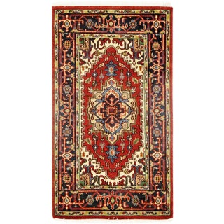 "Traditional Pasargad N Y Serapi Design Hand-Knotted Rug - 3' X 5'3"" For Sale"