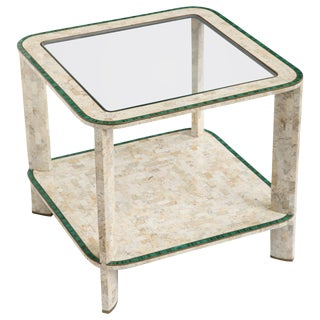 1970s Maitland-Smith Tessellated Marble and Malachite Cocktail Table For Sale