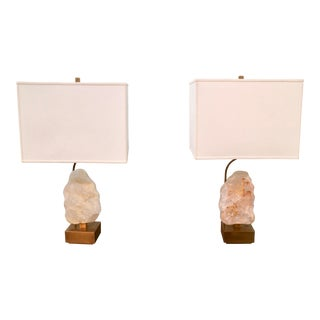 Designer Crystal Lamps - A Pair For Sale