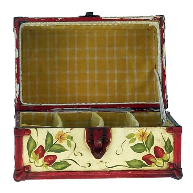 Vintage Hand Painted Doll Trunk - Image 4 of 4