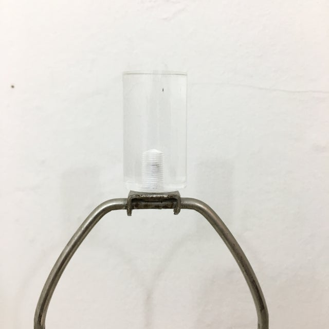 Vintage Karl Springer Style Lucite Lamps- A Pair For Sale - Image 5 of 9