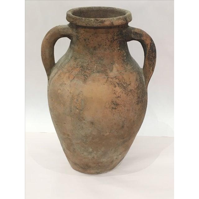Mediterranean Turkish Ceramic Olive Oil Pot - Image 3 of 9