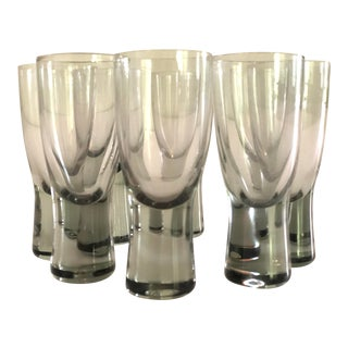 Vintage Mid-Century Danish Holmegaard Per Lutken Cocktail Shot Glasses--Set of 8 For Sale