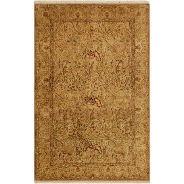 Textile Pak Persian Griselda Tan/Gold Hand-Knotted Rug -4'2 X 6'2 For Sale - Image 7 of 9