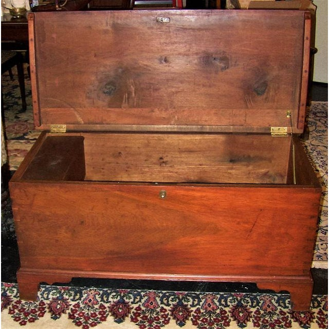 Late 18th Century 18c Pennsylvania Cherrywood & Cedar Blanket Chest For Sale - Image 5 of 10