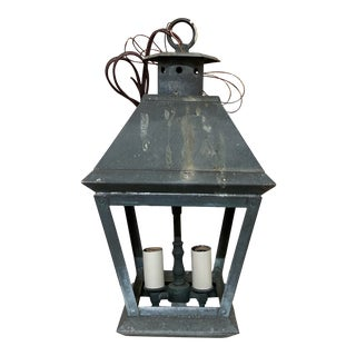 Vintage Verdigris Copper Lantern For Sale