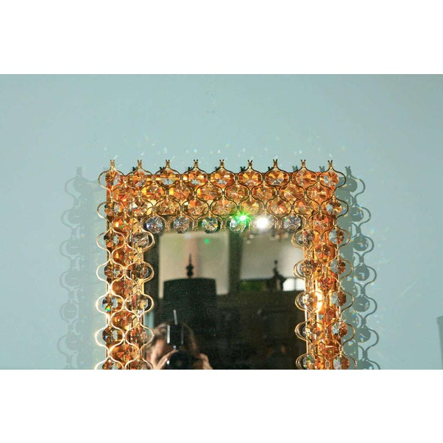 Crystal Lobmeyr Crystal & Gold Backlit Mirror For Sale - Image 7 of 9