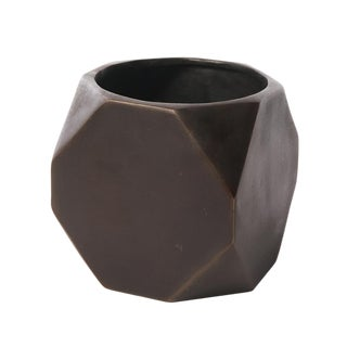 Bronze Faceted Planter For Sale