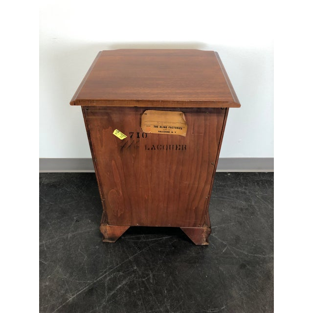 Kling Golden Mahogany Chippendale Block Front Nightstand For Sale In Charlotte - Image 6 of 11