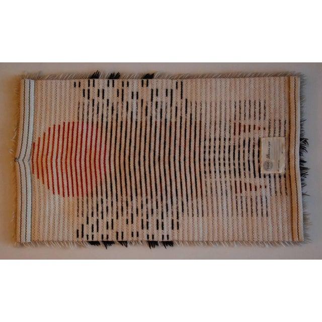 1960's Denna Rya Vintage Abstract Wool Tapestry/Rug -- 1′8″ × 2′9″ - Image 6 of 8