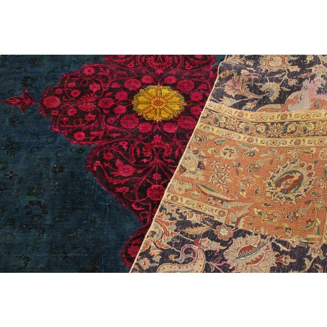 Patchwork Color Reform Kevin Green/Magenta Area Rug - 8'1 X 10'3 For Sale In New York - Image 6 of 8