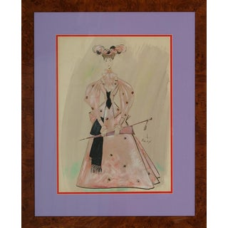 """The 2nd Mrs Paul Tanqueray"" Act III Original 1950 Watercolour by Cecil Beaton For Sale"