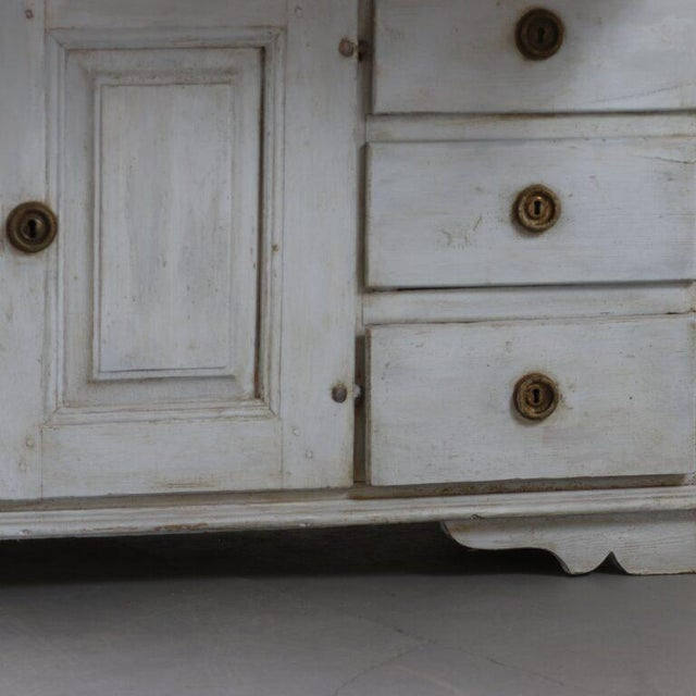 Gustavian (Swedish) 18th Century Painted Swedish Clock Desk For Sale - Image 3 of 5