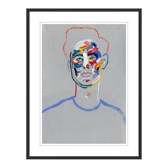 Walter by Robson Stannard in Black Frame, Medium Art Print For Sale