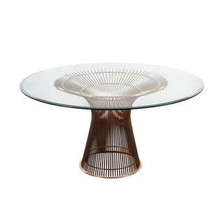 Warren Platner for Knoll Table in Rose Gold For Sale