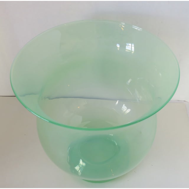 Late 20th Century Large Blown Glass Vase For Sale - Image 5 of 8