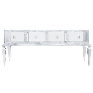 Customizable Four Drawer Lucite Credenza / 1704 For Sale