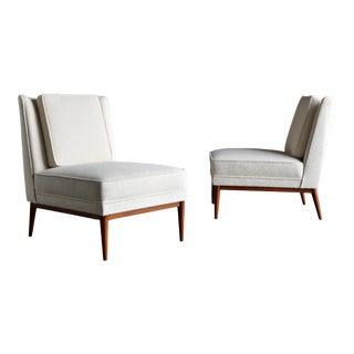 Paul McCobb Slipper Chairs for Custom Craft, Circa 1952 - a Pair For Sale