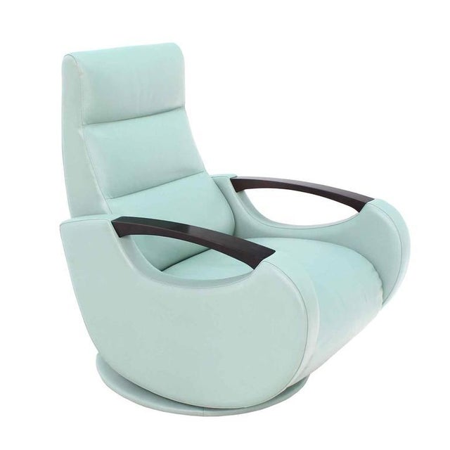 Pair of Mid-Century Modern Leather Recliner Lounge Chairs For Sale - Image 10 of 11
