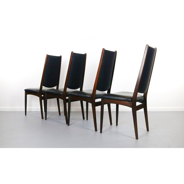 1960s Rosewood Danish Modern Dining Chairs - a Set of 4, Denmark For Sale - Image 5 of 5