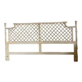 Vintage Ficks Reed Faux Bamboo King Size Headboard For Sale