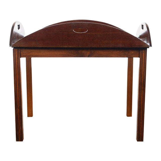 18th C. Georgian Mahogany Butler's Tray Table For Sale